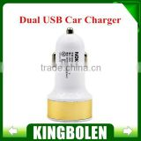 Micro Auto Universal Dual 2 Port USB Car Charger For iPhone For iPad Mini Car Charger Adapter / cigarette lighter Socket