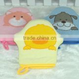 baby gloves&mittens /plush shower puppets/ bath mitts wholesale