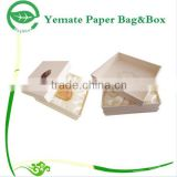high quality custom made colorful ptinted paper perfume packaging boxes, luxury cardboard box with flock insert