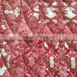 quilting fabric, taffeta printed quilting embroidered fabric,printed quilted jacket fabric
