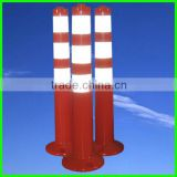 roadway flexible safety barrier post