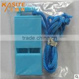 Custom whistle lanyard flat plastic whistle best survival whistle
