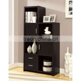 Living Room Cappuccino Finish Storage Unit with Drawer and Door Laminate Furniture Wooden Cabinet