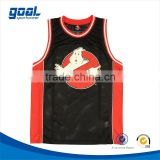 Wholesale custom cheap red and black quick-dry basketball jersey for club and team