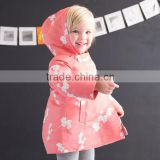 DB1486 davebella 2014 winter new arrival flour printed baby coat babi outwear baby clothes winter outwear