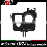JGJ OEM for GoPro HERO4 Housing Shell CNC Aluminum Alloy Protective Cage with 37mm UV Lens Filter Lens Cap