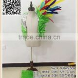 Green Goose Feather Costume Colors Goose Feather Clothes Kid Samba Costume                                                                         Quality Choice