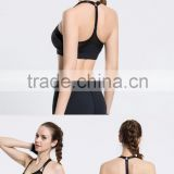 ladies sexy black net bra sets hot sale gym fitness exercise bra