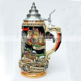 3D handpaint ceramic beer steins with lid