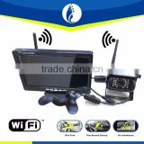Best wholesale cheap price wifi wireless truck car reverse Forklift Camera system aftermarket backup 7 inch tft screen monitor