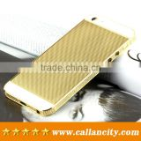 Side diamond inlaid gold plating full housing kit for iphone 5s