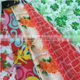 300T print pongee baby printing fabric/pongee kids wear fabric china supplier