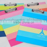 China customized factory design a4 handmade clip board / paper pad/paper splint