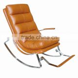 Fashional Bedroom Lounge Chair/Blue Leather Barcelona Chair