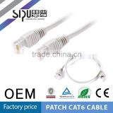 SIPU factory price rj45 utp cat6 patch cord bets price 1m 3m amp cat6 patch cable wholesale utp cat6a patch cable
