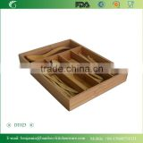 DT021/5-Slot Bamboo Drawer Organizer Tray: Holds silverware, flatware, utensils, cutlery, accessories or gadgets. Stylish divide