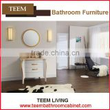 Teem home bathroom furniture Oval bathroom mirror with light knock down kitchen cabinet