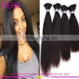 Hair Bulk For Braiding Top Quality 100% Virgin Brazilian Bulk Hair Extensions Without Weft