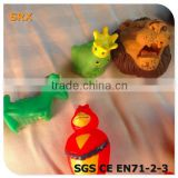 Hot sell unbreakable animal finger toy/promotional toy custom plastic animal finger puppet