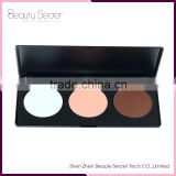 original makeup high Quality 3 color face powder foundation makeup palette with your private label