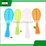 Kitchen accessories creative multipurpose plastic long handle tumbler tree leaf stand shovel ladle scoop rice spoon