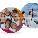 Round Desk Clock Sublimation Glass Frames For Pictures