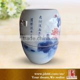 Blue and white porcelain hand painted lotus ceramic health and wellness products for home usage