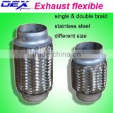 auto dual braid exhaust flexible pipe