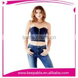 Hot Sale Women's Underwear Latex Waist Trainning Blue Sexy Lingerie Corset