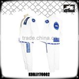 Blank white custom made shoyoroll cut bjj kimono judo uniform