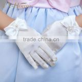 satin gloves flower girl