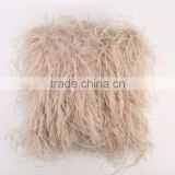 YR179 Luxury Home Textile Cuatomized make Fashion Design Real Ostrich Feather fur Cushion Cover