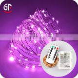 Party Accessories LED Copper Wire High Quality Remote Battery Waterproof LED Battery String Lights