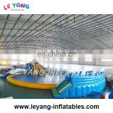 Great white shark water Island Portable Inflatable water pool For water park