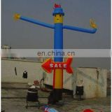 blue dancer, 1-leg air dancer, dancing man, inflatable air dancer