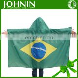 2016 3*5ft customized world country team polyester brazil flag cape