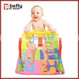 High quality shantou colorful gym baby toys mat with music