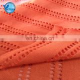 Knitted Weft Spandex Wholesale Jacquard Hole Cotton Organic Bamboo Fabric