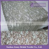 TR023B new cheap fancy christmass lace fabric embroidered silver grey sequin table runner