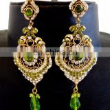 Wholesale victorian earrings-Indian artificial earring-Victorian Imitation Earrings - Online lot rhinestone earrings