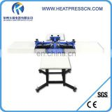 T-shirt 4 Color 1 Station Silk Screen Printing Press machine