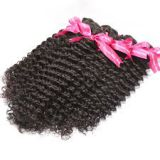 24 Inch Indian Curly Human Soft And Luster Hair Kinky Straight