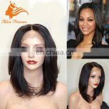 Wholesale Bob Style Wet And Wavy Cheap Lace Front Wig Virgin Human Hair Silky Straight Natural Bob Wig From Qingdao Hair Factory