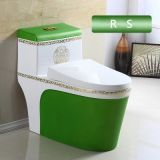 Green modern color sanitary ware one piece toilet from chaozhou