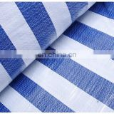 blue white Strip Color waterproof PE Tarpaulin for covering