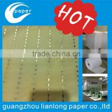 Guangzhou plant professional custom make all kinds of watermarking, 100% cotton paper with watermark security thread safe