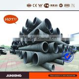 Factory 24 inch diameter culvert pipe /hdpe(high density polyethylene) corrugated pipe/large diameter hdpe pipe/dwc hdpe pipe