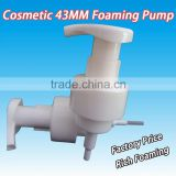 43mm PP Bubble Pump soap foam pump bottle with Clip Cosmetic Packaging Foaming Pump