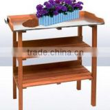 Trade Assurance Limit member cheap indoor plant holders , three layers of wooden flower pot holder