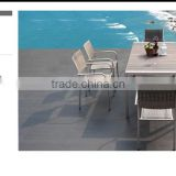 Nora all weather Aluminum and WPC/rattan/wicker dining set Garden/Patio/Outdoor furniture